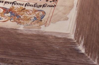 rohy doplněny záplatami z japonského papíru