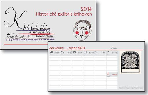 Stolní knihovnický kalendář 2014