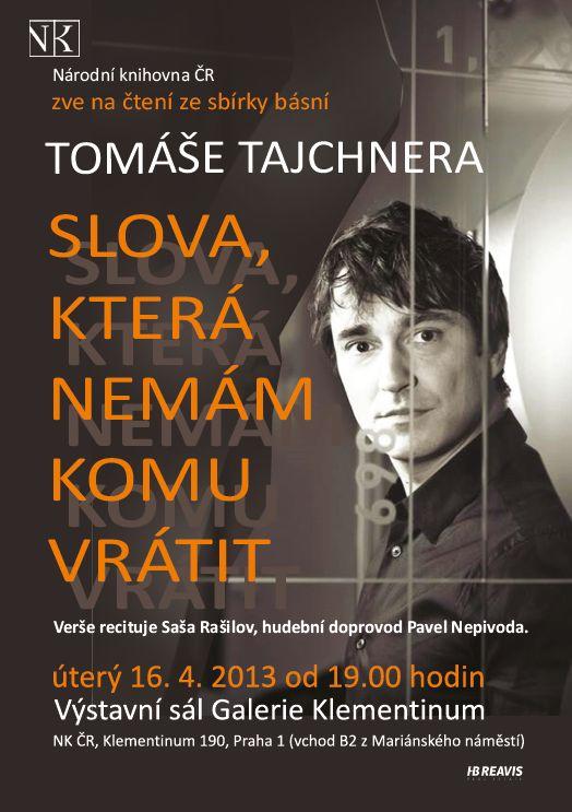 Saša Rašilov čte verše Tomáše Tajchnera