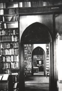Interiér Slovanské knihovny v Místodržitelském letohrádku